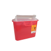 5.4 Quart Translucent Red Stackable Sharps Container