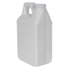 64 oz. White F-Style Jug with Window Strip & 38/400 Plain Cap