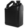 128 oz. Black F-Style Jug with 38/400 Plain Cap