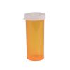 """16 Dram Amber Polypropylene Snap Cap Vials - 1-1/4"""" Dia. x 3-21/64"""" H"""