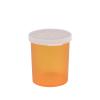 """20 Dram Amber Polypropylene Snap Cap Vials - 2-5/16"""" Dia. x 2-5/16"""" H"""