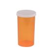 """40 Dram Amber Polypropylene Snap Cap Vials - 1-15/16"""" Dia. x 3-19/32"""" H"""