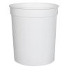 34 oz. White Polypropylene Z-Line Round Container