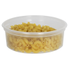 8 oz. Natural Polypropylene Z-Line Round Container