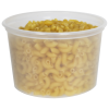 16 oz. Natural Polypropylene Z-Line Round Container