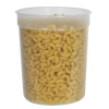 34 oz. Natural Polypropylene Z-Line Round Container