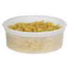 8 oz. Natural Polypropylene Z-Line Freezer Grade Round Container