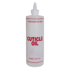 "16 oz. Natural HDPE Cylinder Bottle with 24/410 Twist Open/Close Cap & Red ""Cuticle Oil"" Embossed"