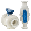 "3/4"" Mini Series MBV Ball Valve with Tri-Clamp Sanitary Connections"