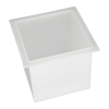 "7 Gallon Polypropylene High Temperature Tamco® Tank - 12"" L x 12"" W x 12"" Hgt."