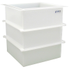 "74 Gallon Polypropylene High Temperature Tamco® Tank - 24"" L x 24"" W x 30"" Hgt."