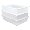 "89 Gallon Polypropylene High Temperature Tamco® Tank - 36"" L x 24"" W x 24"" Hgt."