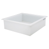 "67 Gallon Polypropylene High Temperature Tamco® Tank - 36"" L x 36"" W x 12"" Hgt."