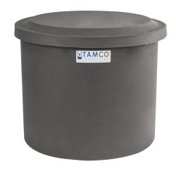 "10-12 Gallon Gray Polyethylene Shallow Tank with Cover - 14"" High"