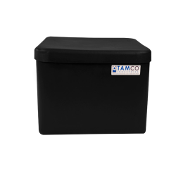 "4 Gallon Black Standard Square Tank with Cover -  11-1/2"" L  x 11-1/2"" W x 8-5/16"" H"