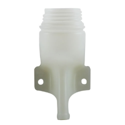 "2-1/4"" HDPE Remote Filler Spout with 5/8"" Outlet"