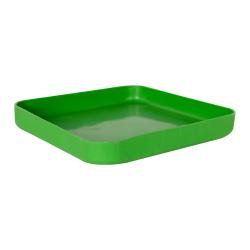 "11-1/2"" L x 11-1/2"" W x 1-1/4"" Hgt. Green Tamco® Tray"