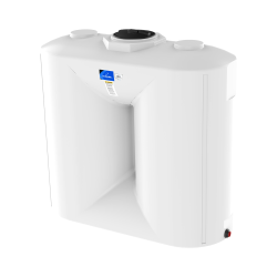 "1000 Gallon White Flat Bottom Utility Tank 92"" x 40"" x 89"""