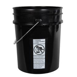Premium Black 5 Gallon Bucket