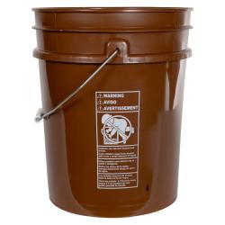 Premium Brown 5 Gallon Bucket