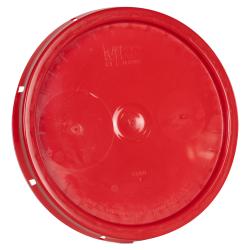 Red Solid Tear Tab Bucket Lid