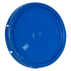 Blue Solid Tear Tab Bucket Lid