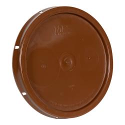 Brown Solid Tear Tab Bucket Lid