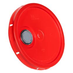 Red Pour Spout Bucket Lid