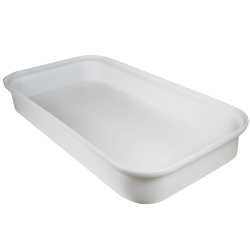 "Natural LLDPE Tamco® 2 Drum Spill Tray with Drain - 52"" L x 26"" W x 7"" Hgt."