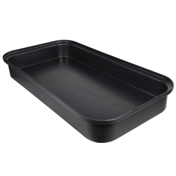 "Black LLDPE Tamco® 2 Drum Spill Tray with Drain - 52"" L x 26"" W x 7"" Hgt."