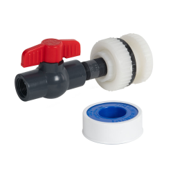 "1-1/2"" Tamco® NPT Tank Fitting, Nipple & Valve Kit (Installed)"