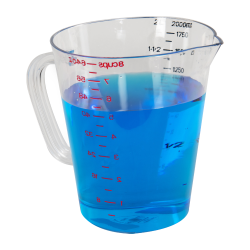 1/2 Gallon Clear Commercial Measuring Cup