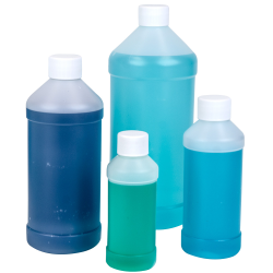 Modern Round Bottles with Plain Caps
