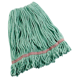 Large Green Anti-Bacterial Cotton Blend Yarn Looped-End Libman® Wet Mop Head