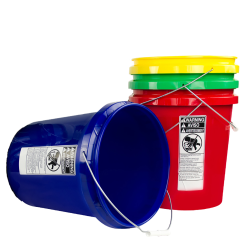 Colored Economy 5 Gallon Buckets & Lids
