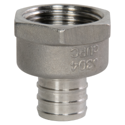 "3/4"" PEX x 1/2"" FNPT Stainless Steel Female Adapter"