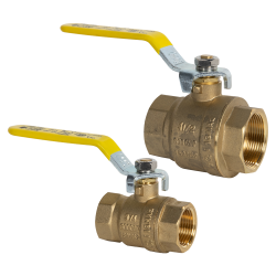 "1"" FNPT Brass Full Port Ball Valve"