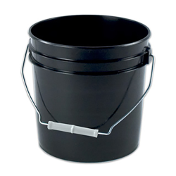 Letica® Black 2 Gallon Bucket & Lid