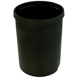 "25 Gallon Black Heavy Weight Tank - 19"" Dia. x 26"" High (Cover Sold Separately)"