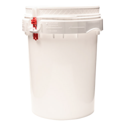 Life Latch® White 12 Gallon Plastic Drum