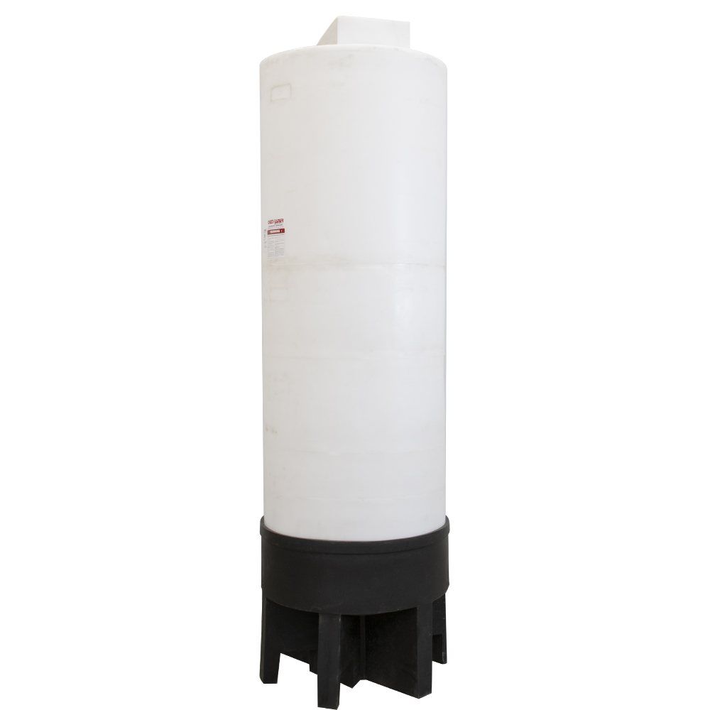 """300 Gallon Conical Bottom Bulk Storage Tank with Support Stand - 31"""" Dia. x 95"""" Hgt. w/19° Cone Angle"""