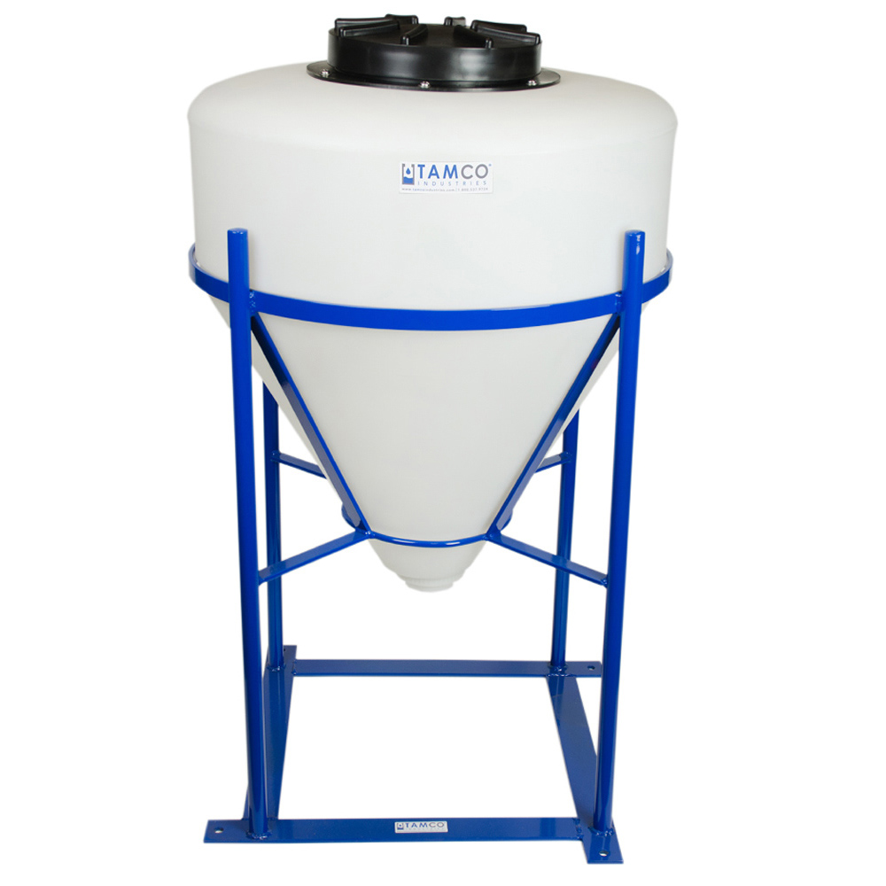 """30 Gallon Tamco® Cone Bottom Tank with 2"""" FPT Bulkhead Fitting - 26"""" Dia. x 28"""" Hgt."""
