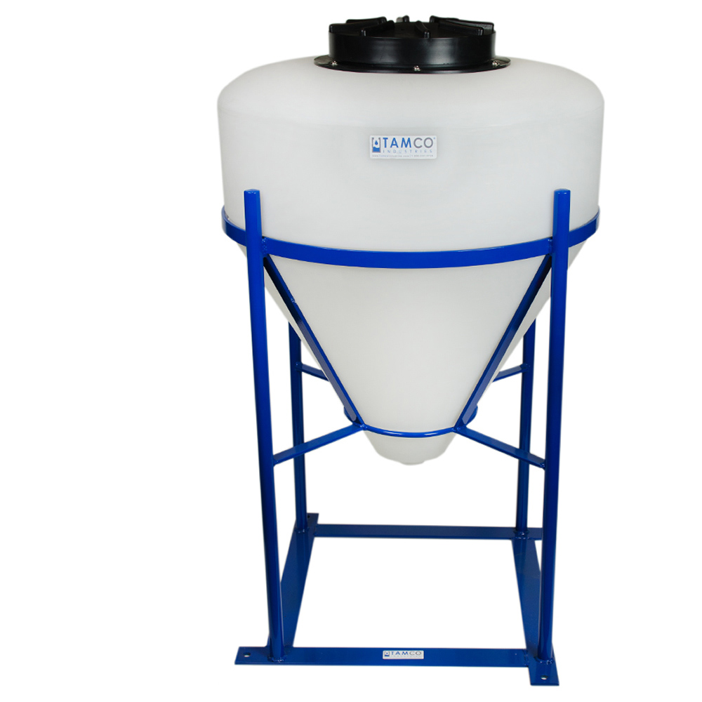 "30 Gallon Cone Bottom Tank with 1-1/2"" FPT Boss Fitting (Full Drain) - 26"" Diameter x 28"" High"