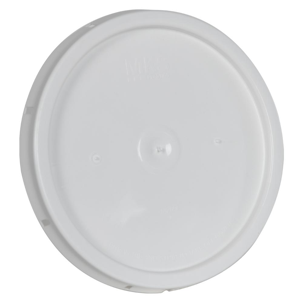 White Solid Tear Tab Bucket Lid