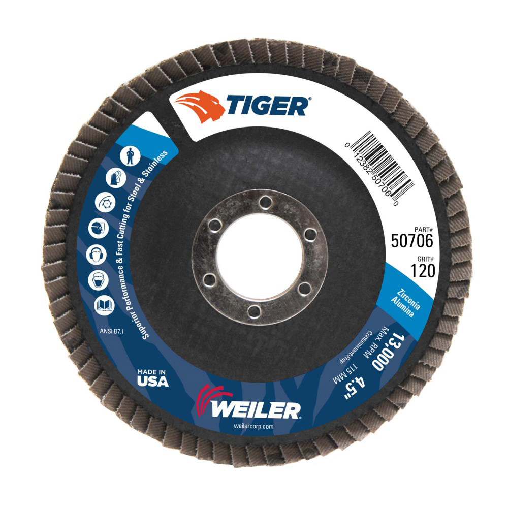 Weiler® Original Tiger® Flap Discs