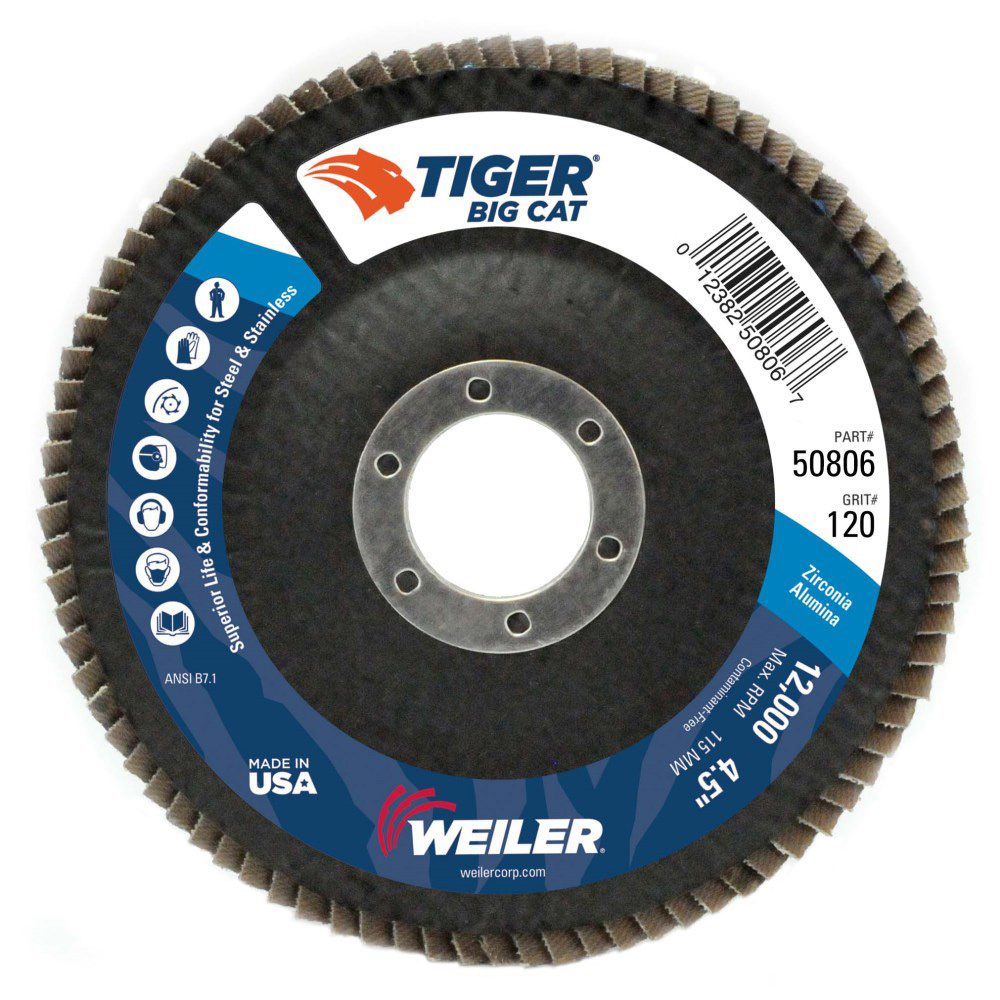 Weiler® Tiger® Big Cat HD Flap Disc