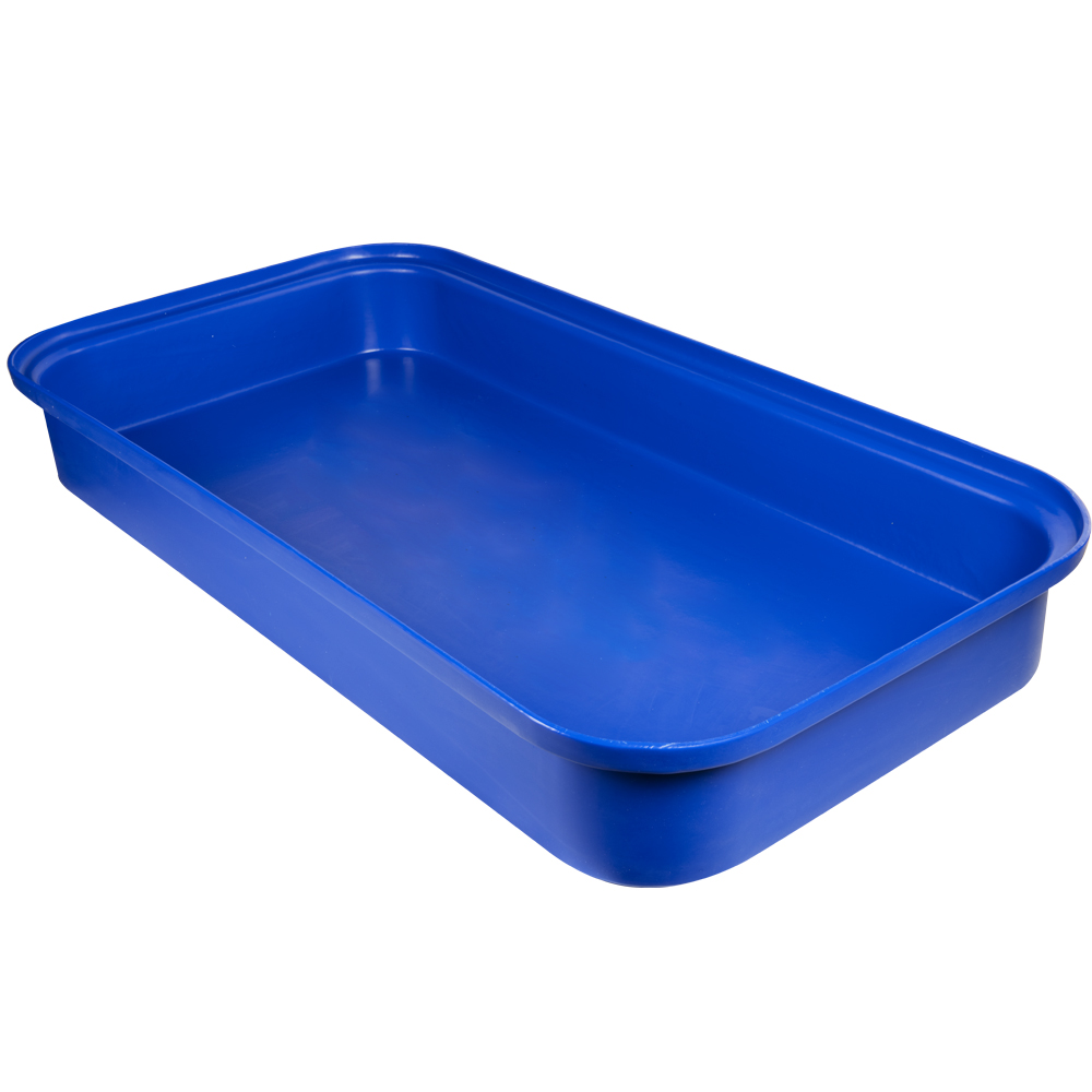 """Blue LLDPE Tamco® 4 Drum Spill Tray with Drain - 52"""" L x 52"""" W x 8"""" Hgt."""