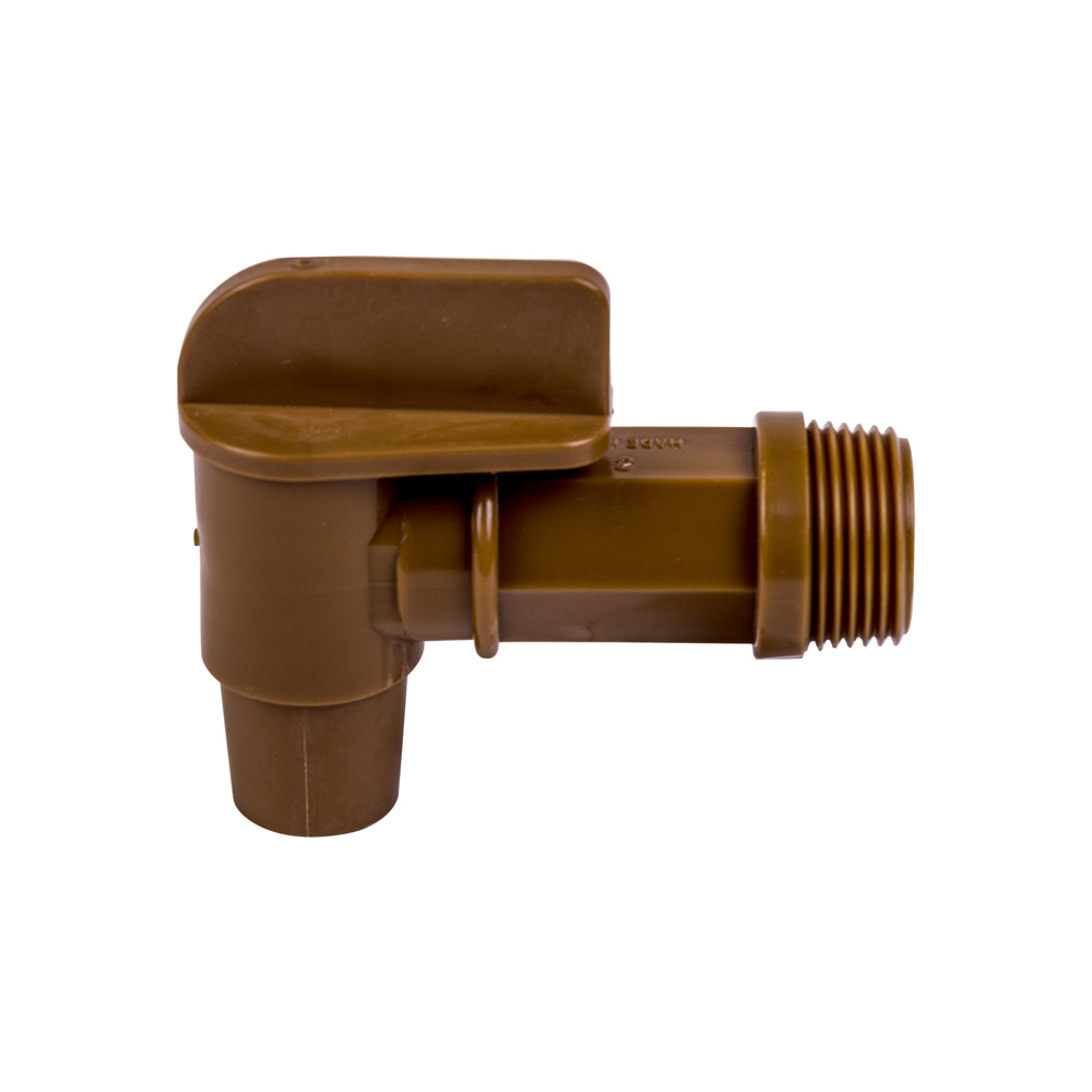 "3/4"" Gold Drum Faucet with 7/8"" OD Outlet"