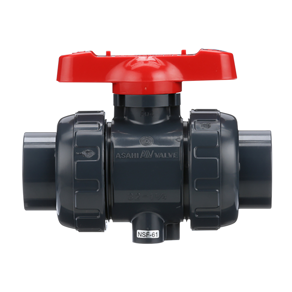 "3/4"" Threaded PVDF True Union Ball Valve with FKM O-rings"