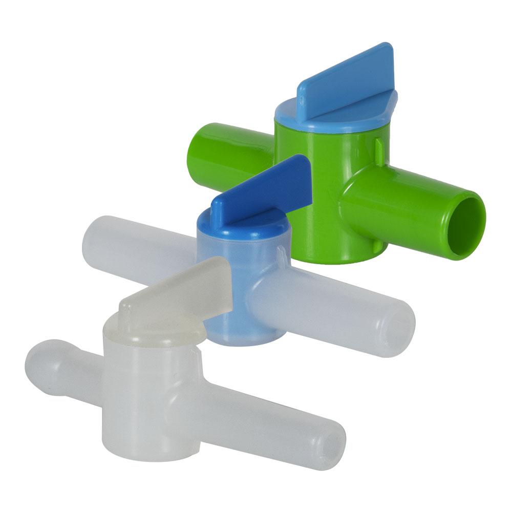 Kartell HDPE & Polypropylene Miniature Stopcocks